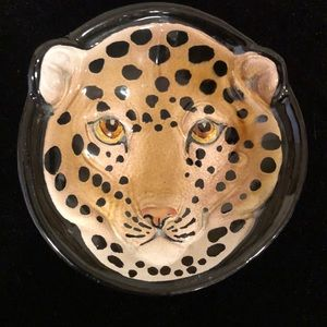 Leopard Ceramic Dish, Made in Italy